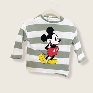 Mickey Mouse HM Colab Baby Striped Long Sleeve